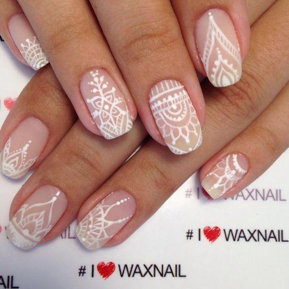 TOP 30 Lace Nail Art Designs – isishweshwe