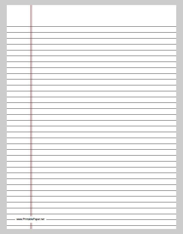 print writing paper – Lined Writing Paper