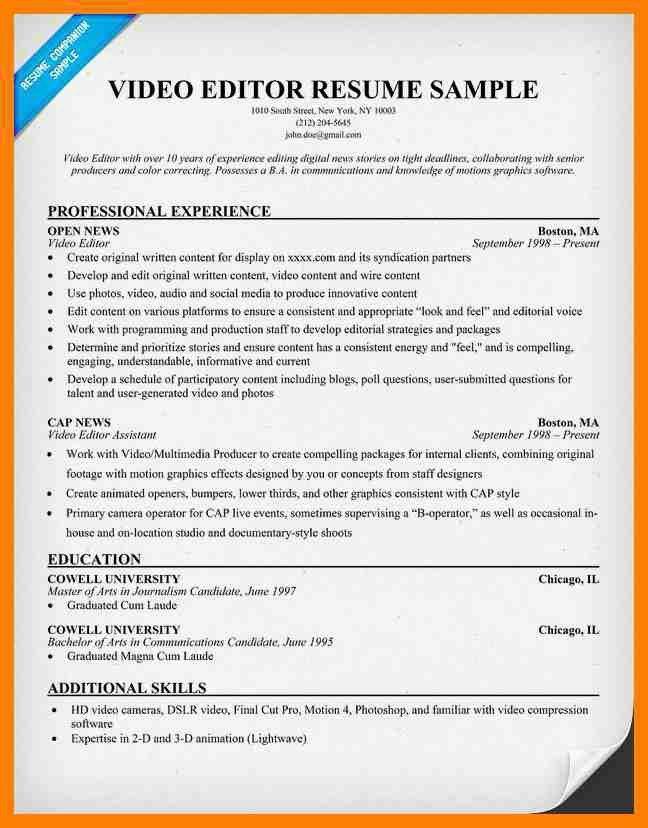 Film Editor Resume Sample Video Editor Resume Samples Visualcv - video editor resume sample