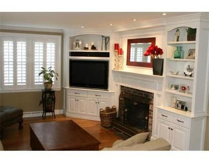 Option Instead Of Tv Above Fire Place Rebuild Corner Shelves Inspiration Living Room Corner Furniture Designs Decorating Design