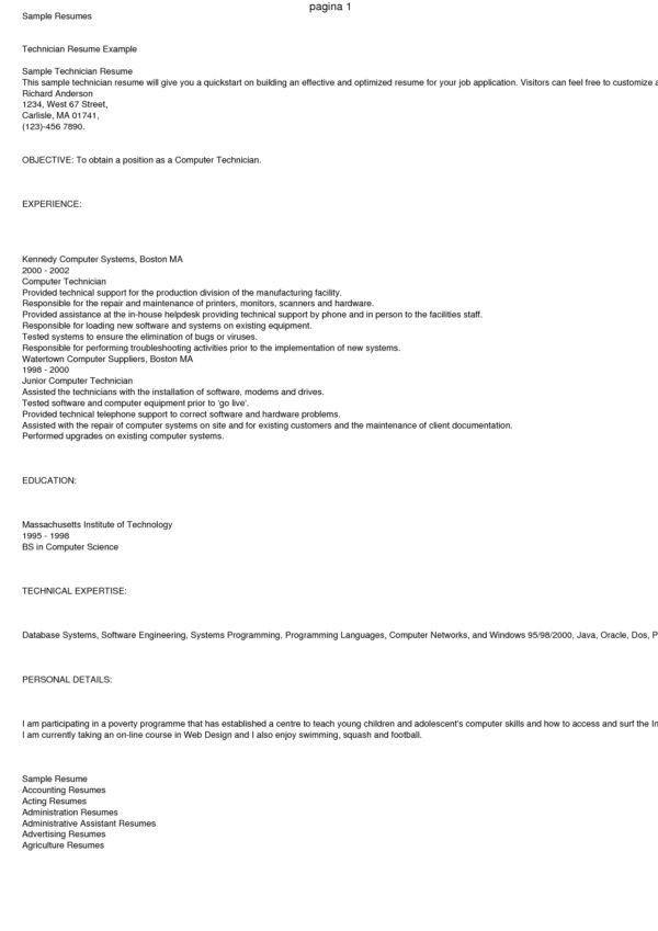 er tech resume