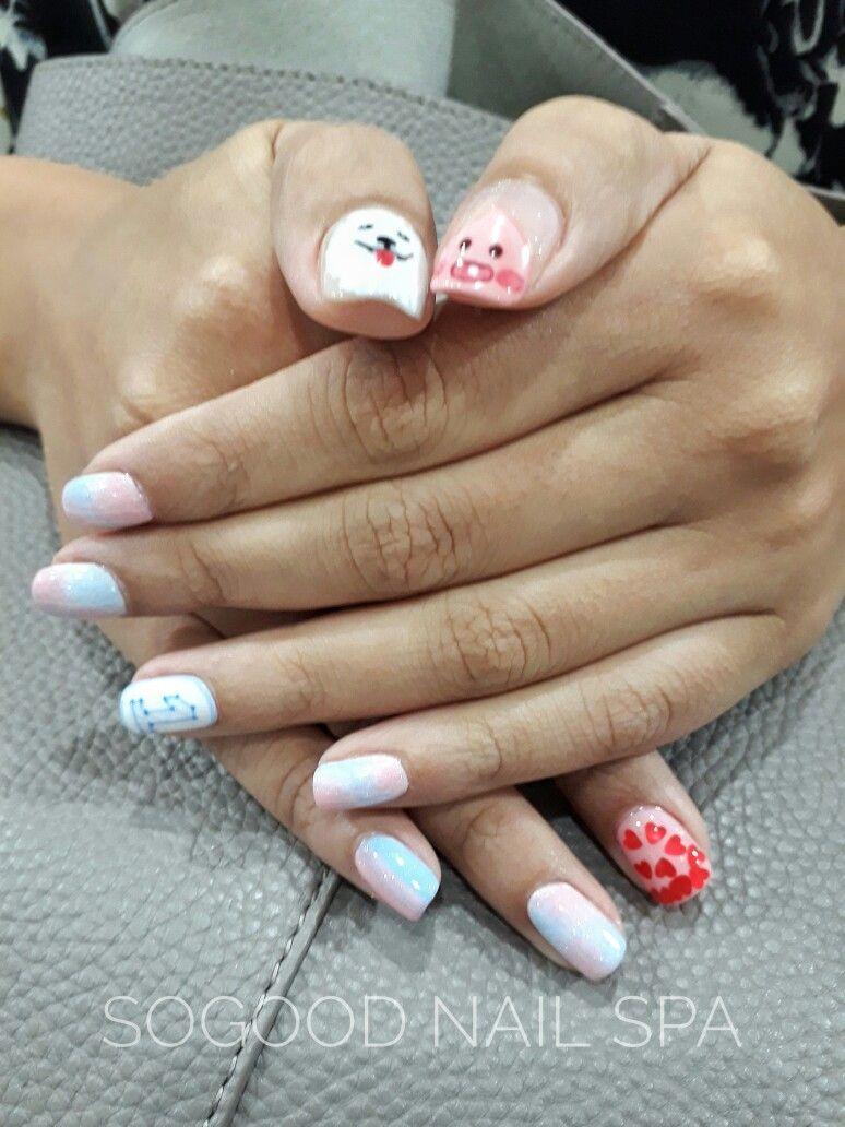 Estef nails and spa pedicure y gelish. #manicure #gelish#nailart