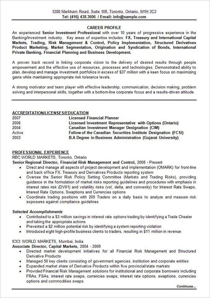 Examples Of Resumes Resume Sample Canadian Canada Format For