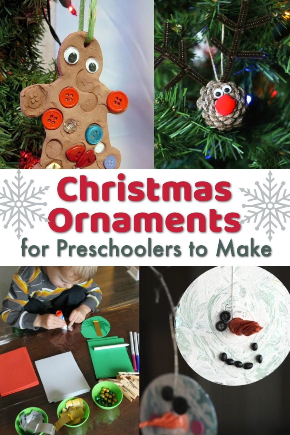 Nothing better than homemade ornaments hanging on your Christmas tree! You'll be sure to treasure these child-made treasures for years to come. #howweelearn #preschool #christmasforkids #christmasornaments