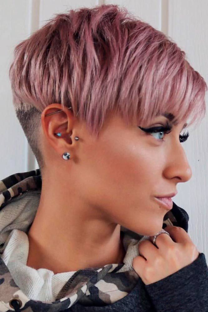 Awesome Pale Lilac Pixie Haircut ★ A pixie cut will work great for a woman who has an extremely active lifestyle and who would like people to take her seriously. This cut is universally flattering and can be sported in a variety of ways. If you are tempted to try this bossy cut, see our photo gallery to pick one. #glaminati #lifestyle #pixiecut