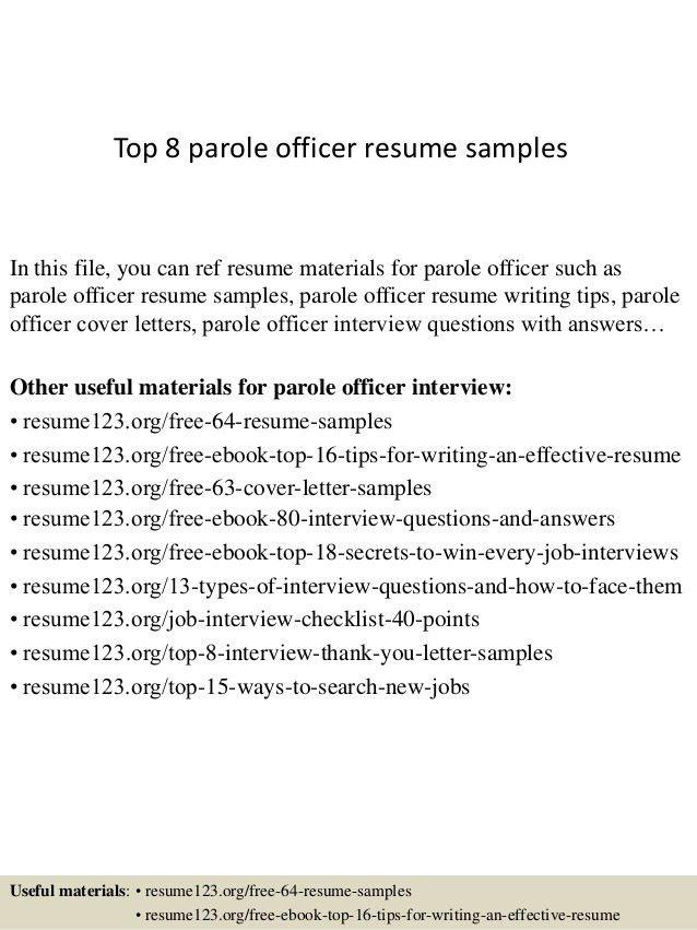Probation and parole officer cover letter sample livecareer