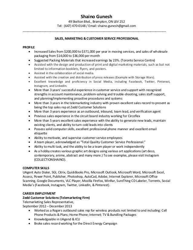 Telesales Representative Sample Resume Professional Telesales