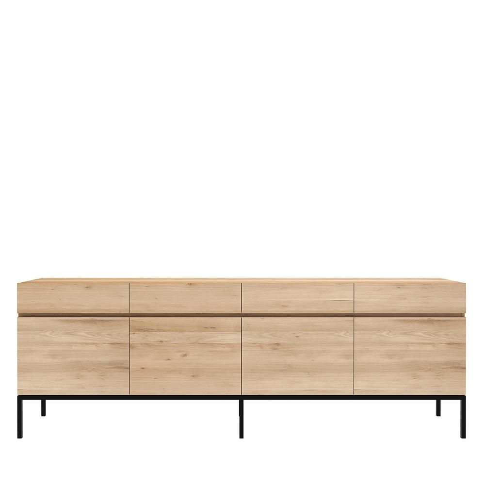 """Ligna Sideboard - 84"""" Large: 87""""W x 18""""D x 31""""H - 4 doors/4 drawers"""