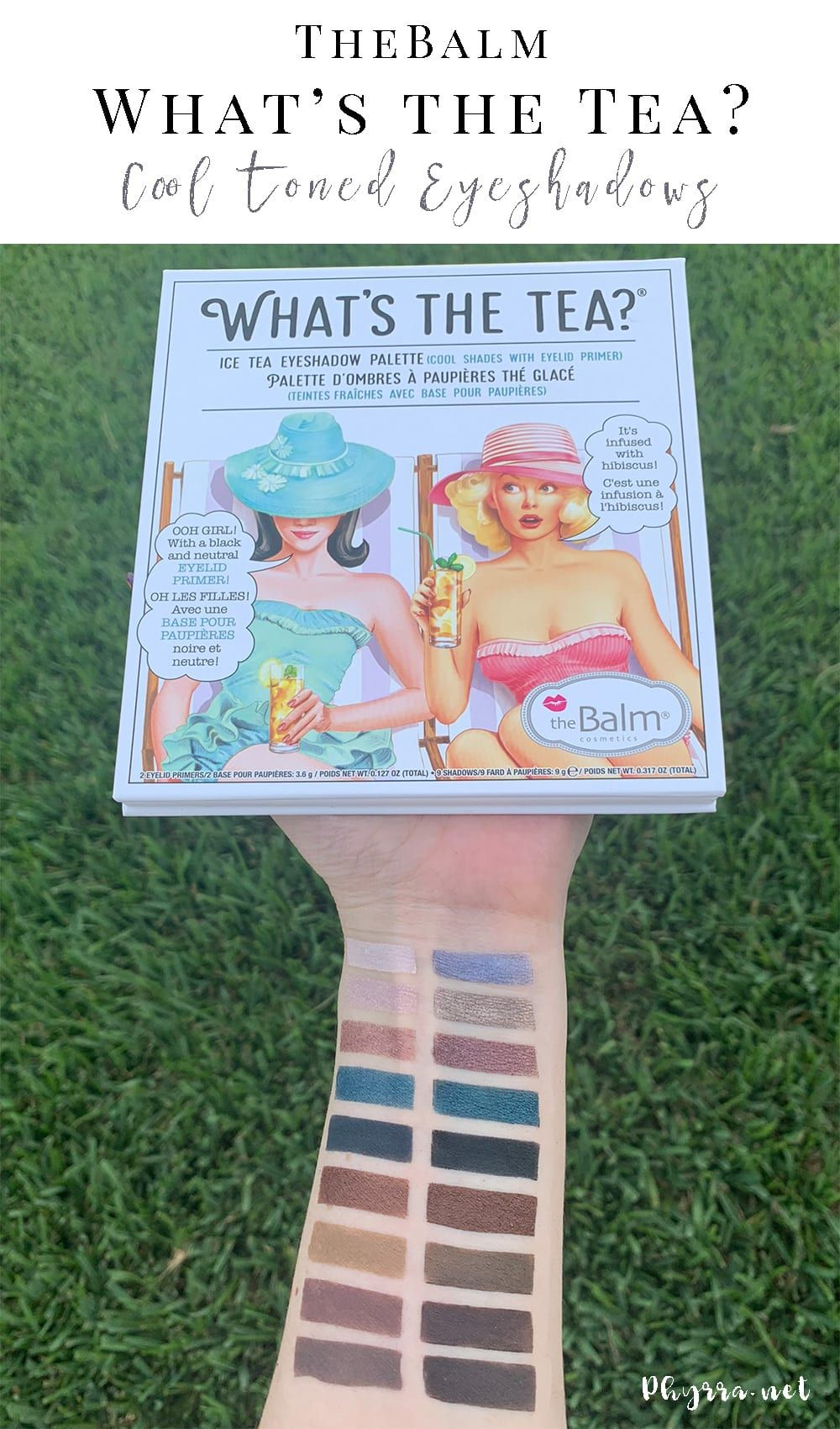 theBalm What's the Tea Ice Tea Palette Review & Swatches