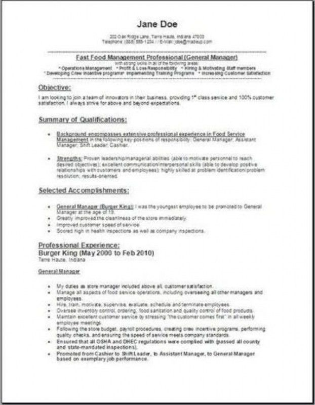 Unforgettable Fast Food Server Resume Examples To Stand Out