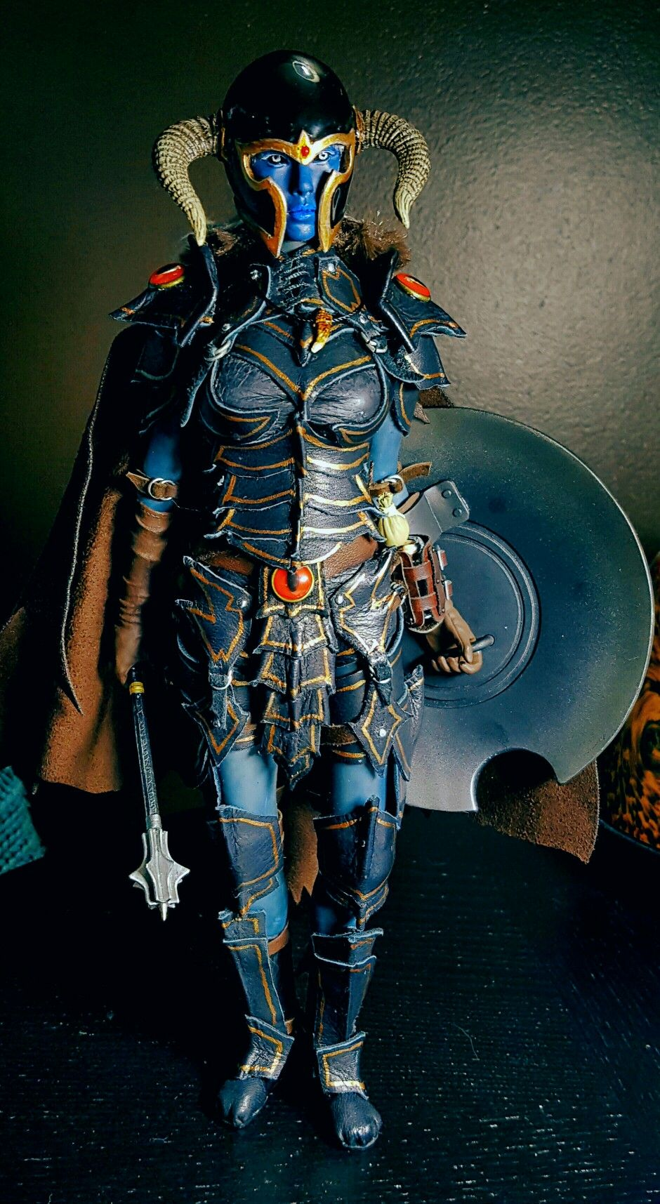 Custom 16 scale figure durai dark elf warrior elf