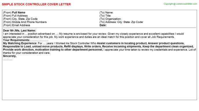 ... Cover Letter Controller Finance Controller Cover Letter Example    Production Controller Cover Letter ...
