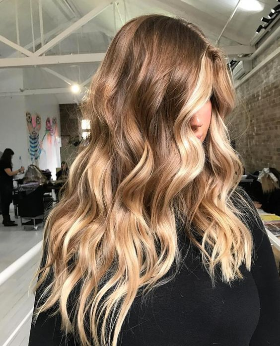 Trendy Long Hair Women's Styles Hair goals long brunette waves with blonde balayage – #HairStyle