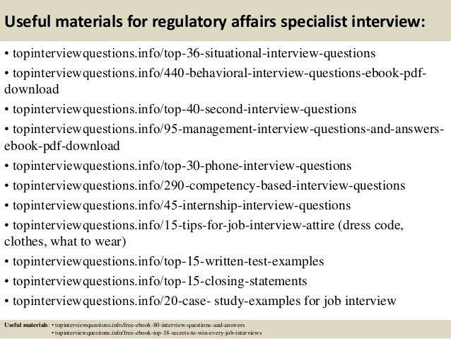 Regulatory Affairs Job Cover Letter | Cover Letter