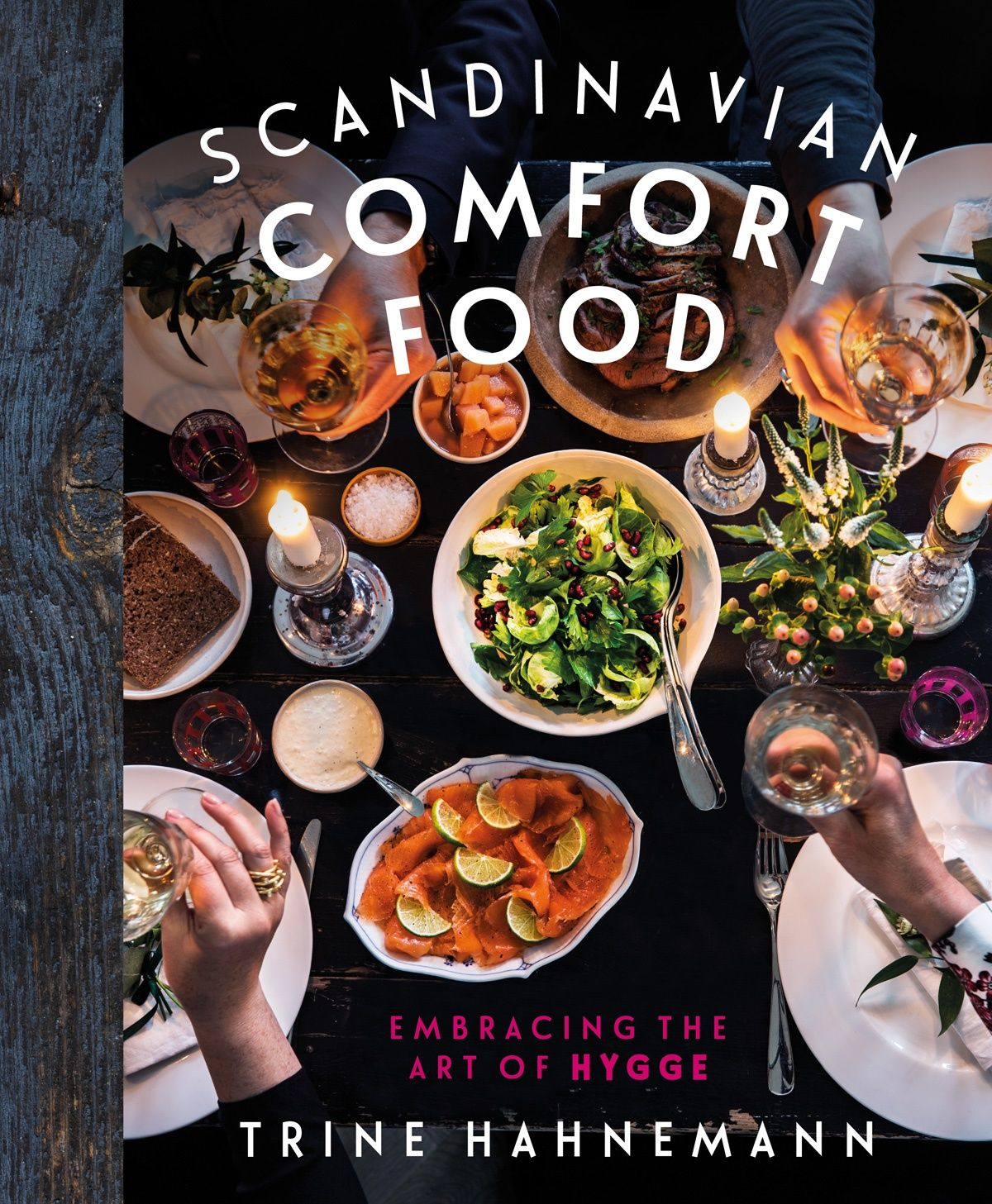 Book cover of Scandinavian Comfort Food by Trine Hahnemann. There have been more books this year on 'hygge' - that Danish concept of fireside cosiness, relaxed amiability, warm, informal gatherings and the cocooning comfort of hearth and home - than I can shake a stick at. But before there was the hype, there was the Queen of Hygge, Trine Hahnemann, she who first introduced the term to us, and her new book, Scandinavian Comfort Food, show us how to celebrate the art of hygge in our own homes.