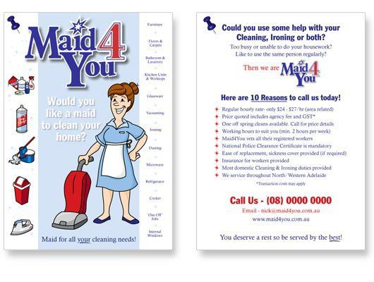 House Cleaning Help House Cleaning Flyer That Gets Results, Heres - house cleaning flyer template