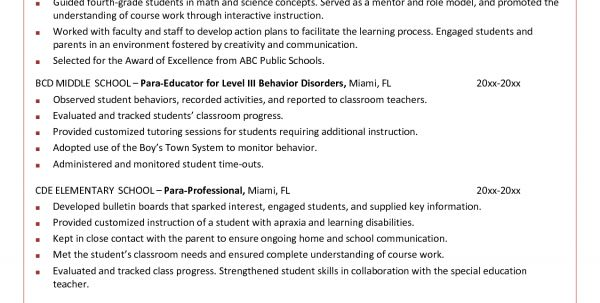 physical educator resume