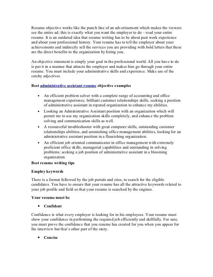 Job Resume Objective Examples Tips For Resume Objective Resume - great objectives for a resume