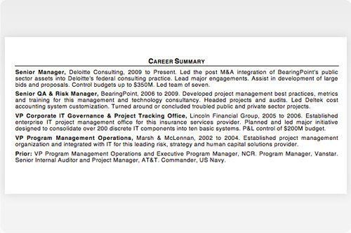 Professional Summary Resume Examples 4 Choose Create My Resume - resume summary example