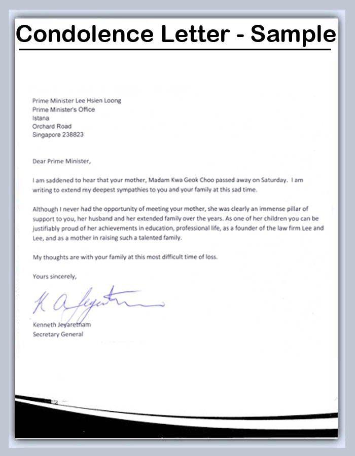 ... Formal Condolences Letter Condolence Letter Templates Condolence    Formal Condolences Letter ... Amazing Ideas