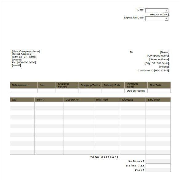 quotation sample template - Militarybralicious - travel quotation sample