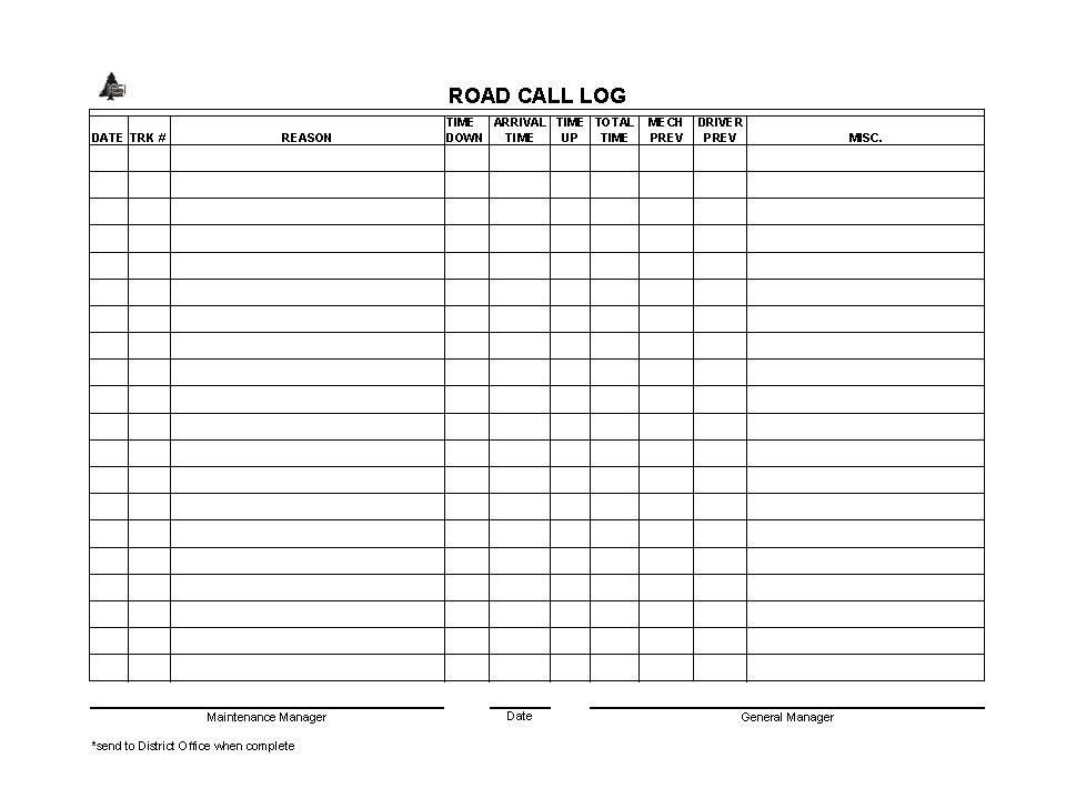 office call log template - Towerssconstruction