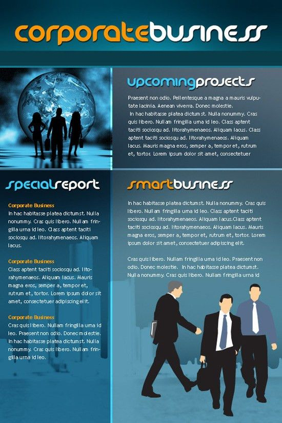 Business Newsletter Templates Free Download Download Free Html - company newsletter template free