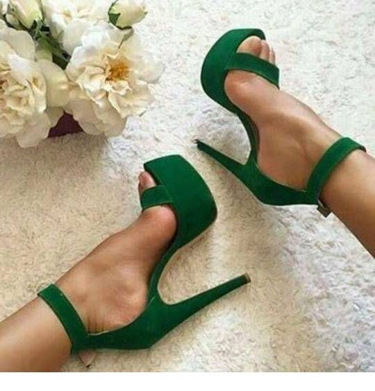 Awesome green high heels
