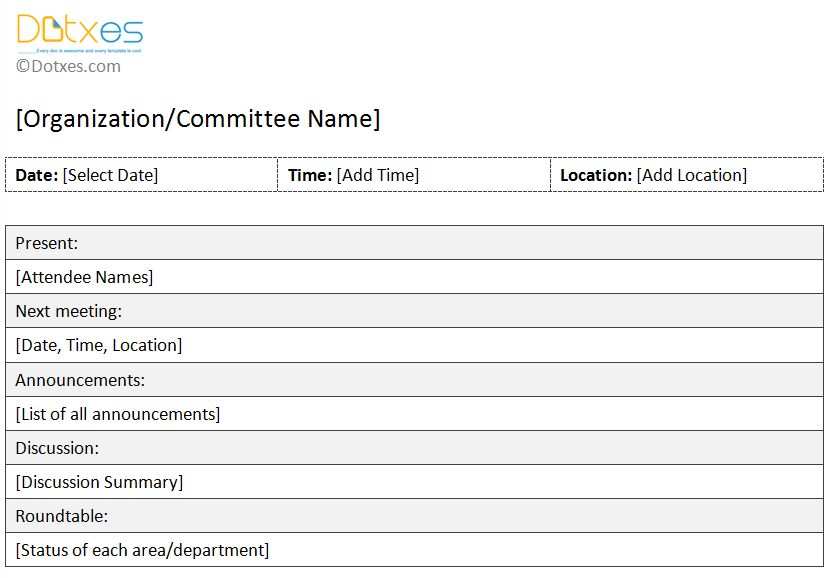 Meeting Minutes Form Blank Meeting Minute Form, Meeting Minutes - meeting summary template