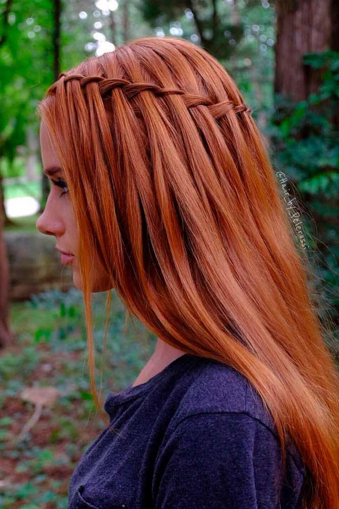 Waterfall Braid #waterfallbraid #longhair ★ We bring you easy hairstyles for long hair to make you look chic. Dreaming to change your style but do not know how to do it?#glaminati #lifestyle #easyhairstylesforlonghair