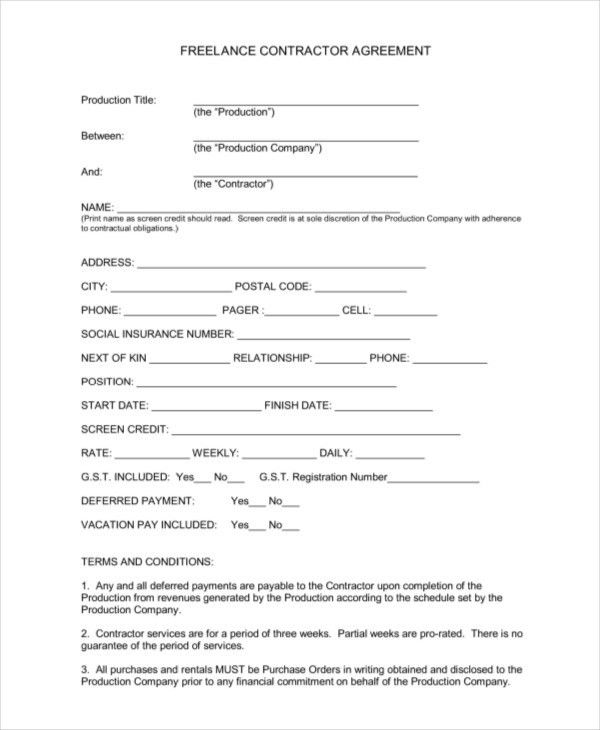 Contract Paper Sample Business Contract Template 10 Free Word Pdf - sample freelance contract template
