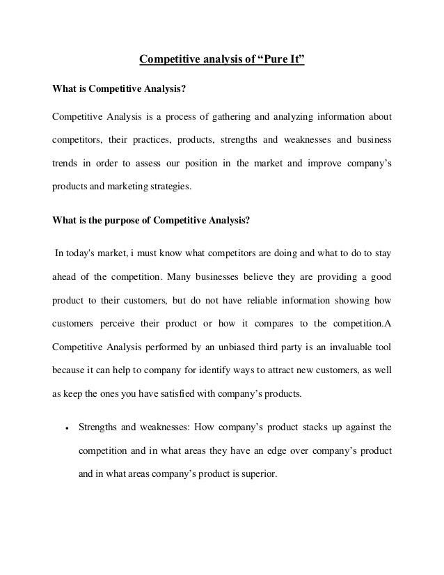 Dorable Competitive Analysis Report Example Ideas - Resume Ideas