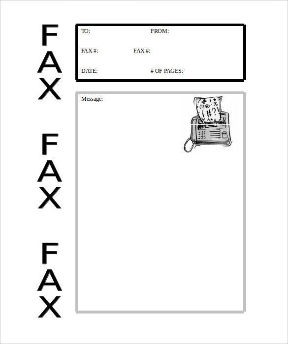 Fax Cover Sheet Microsoft Free Fax Cover Sheet Template Printable - business fax cover sheet
