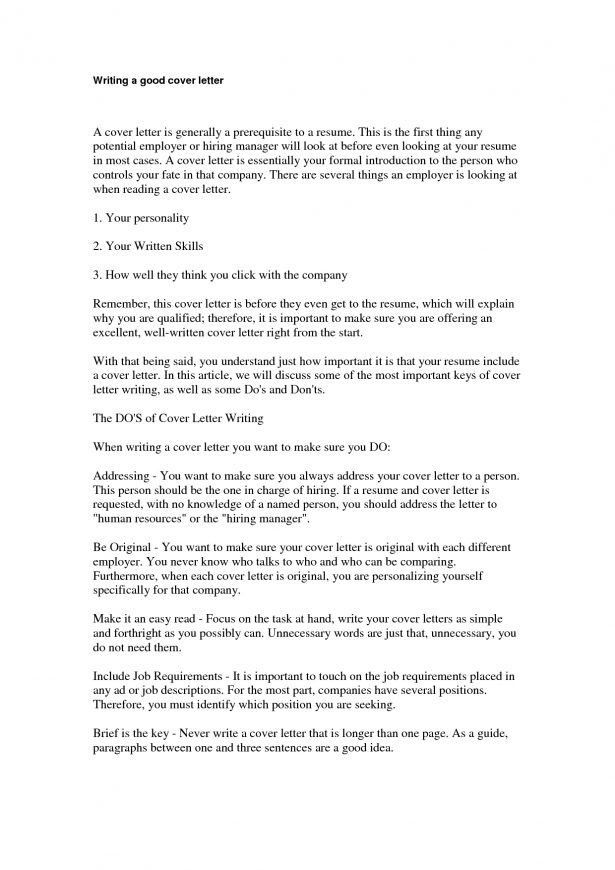 Cover letter resume template how to write a good cover letter for - what does a cover letter contain