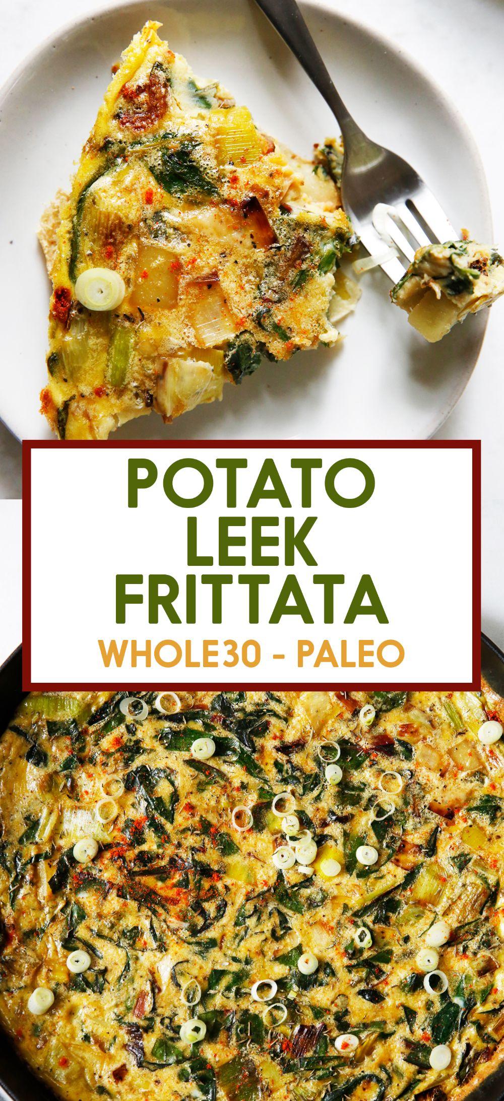 Chard and Potato Leek Frittata - Lexi's Clean Kitchen