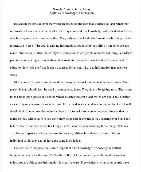 argumentative essay example college - Aerc - sample argumentative essay
