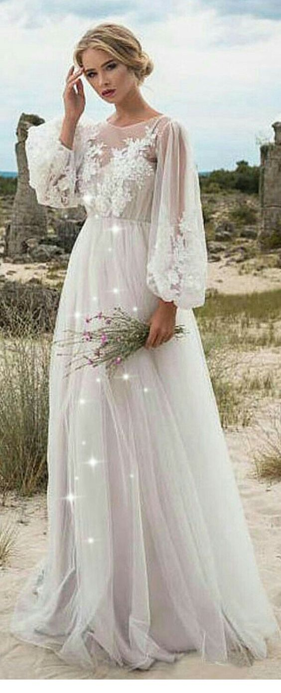 Nice boho chic white dress for summer
