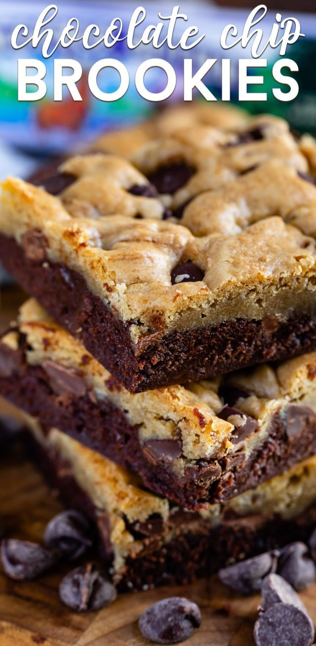 Chocolate Chip Brookies Recipe - Crazy for Crust