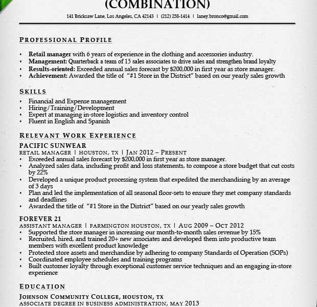 Sample Retail Sales Associate Resume Unforgettable Part Time - sample resume for retail sales associate