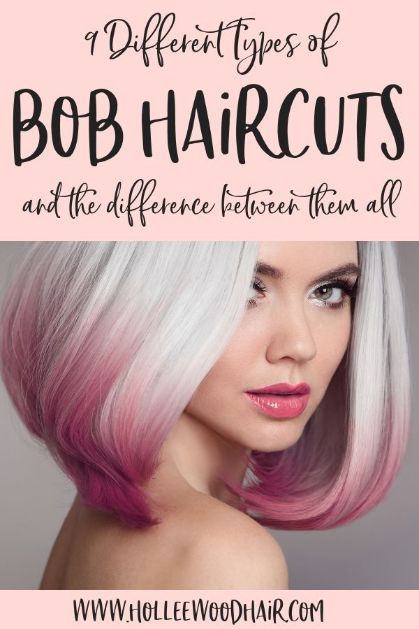 Bob hairstyles are kinda amazing..but do you know the difference between a graduated bob, a-line haircut, inverted bob, stacked bob and the other types of bobs? #bobhairstyles #bobs #bobhaircuts #shorthaircuts #shorthairstyles