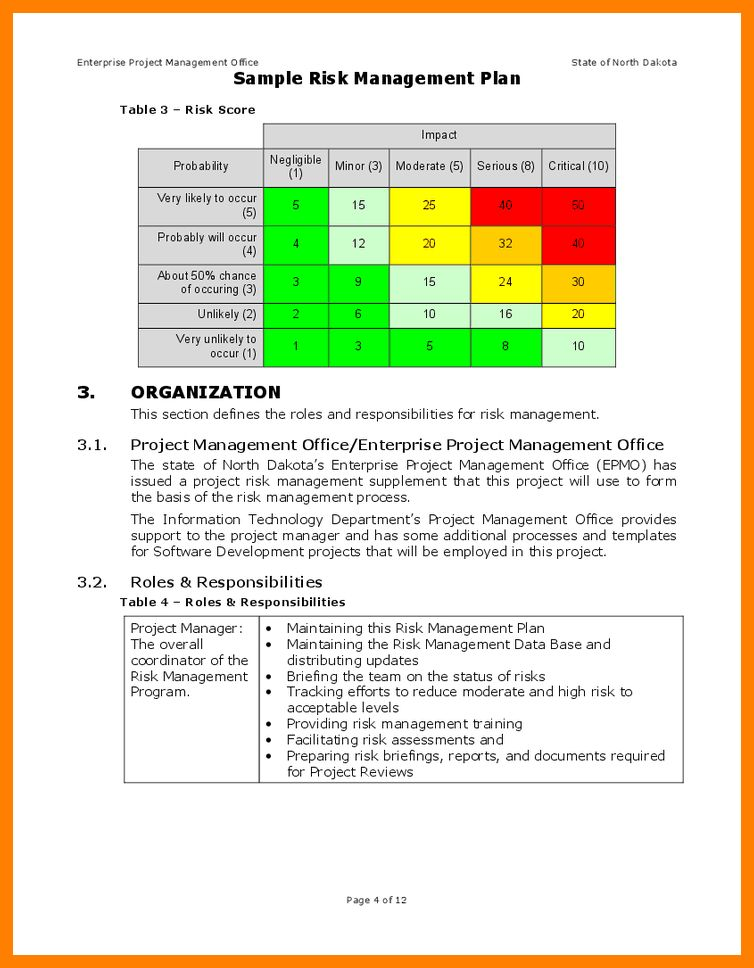 Risk and mitigation template the smart risk mitigation for Risk and mitigation plan template