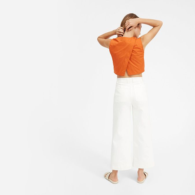split back crop top from everlane