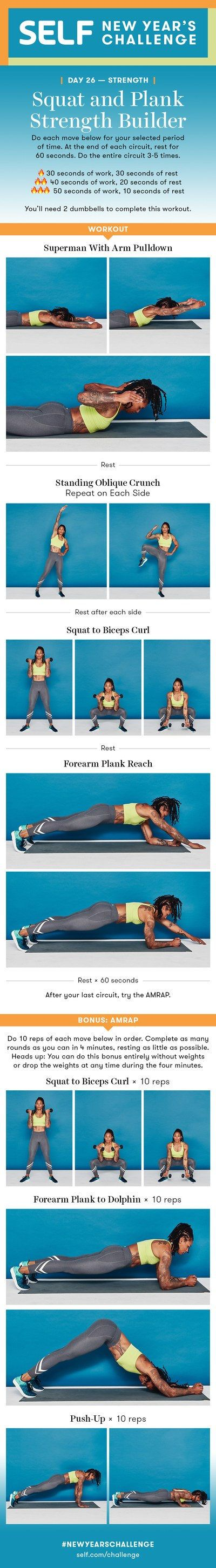 Upper-Body Strength Workout With AMRAP Burnout