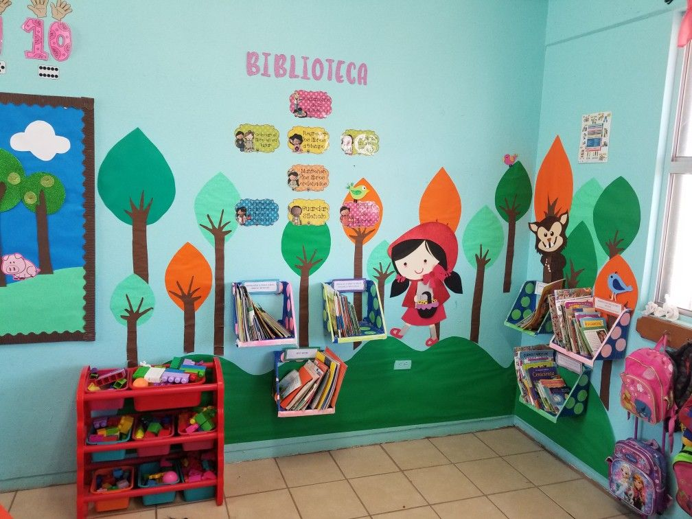 Biblioteca De Aula Preescolar Decoración Caperucita Roja