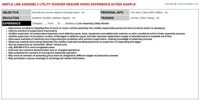 school custodian resume