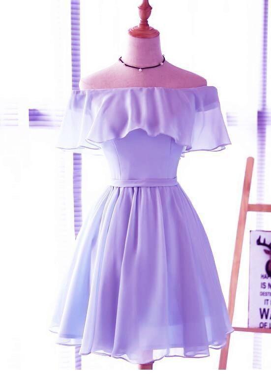 Sweet purple dress design