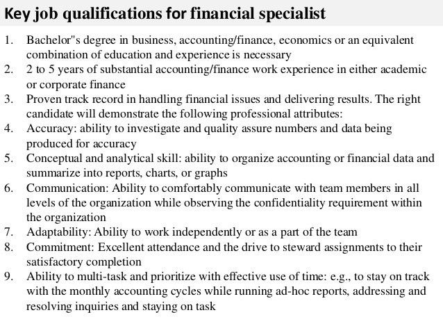 accounting specialist resume