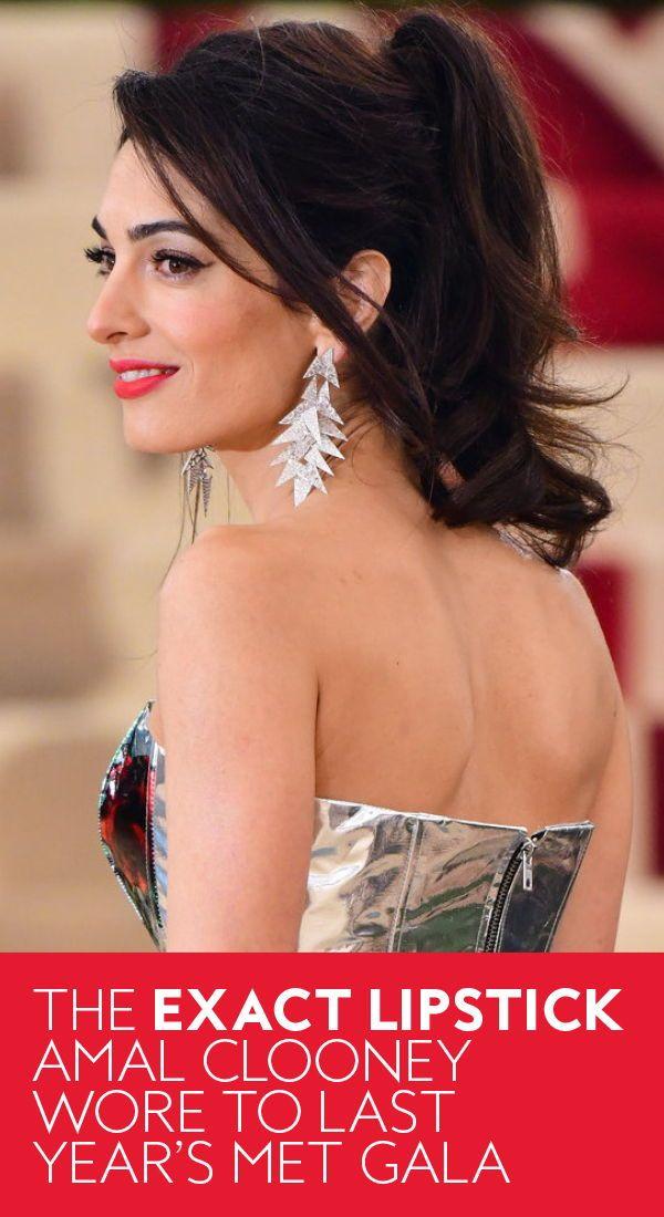 The exact #lipstick #AmalClooney wore to last year's #MetGala. #AmalClooneyFashion #AmalClooneyStyle #MakeupIdeas #lipshades