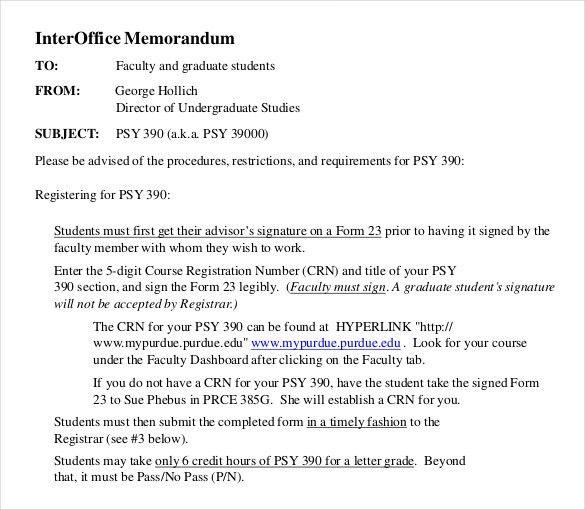 Interoffice Memo Template   7 Free Word, PDF Documents Download .  Interoffice Memo Samples