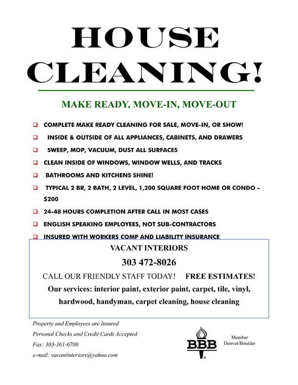 house cleaning flyer | templatexample.unicloud.pl